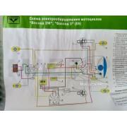 Схема электрооборудования мотоциукла Восход-М Восход-3 (6v)