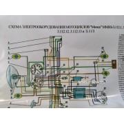 """Схема электрооборудования мотоцикла """"Минск"""" (6v)"""