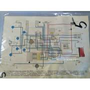 "Схема электрооборудования мотоцикла ""Ява-638"" (12v)"