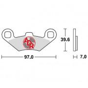 Колодки тормозные передние 2 шт. CFMOTO ATV CF-500-A-2A-X5-X6-X8, OEM 90100808A0