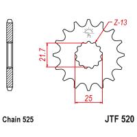 Звезда ведущая 520x15 JT JTF520.15
