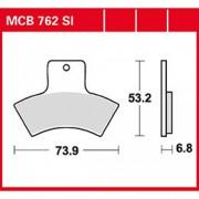 КОЛОДКИ ТОРМОЗНЫЕ ЗАДНИЕ TRW MCB762SI (FA270)