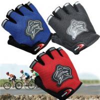 Велоперчатки KNIGHTOOD, короткие пальцы, биэластичные, лайкра, антискользящие (красный/черный, P-872)